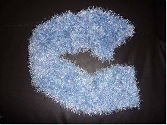 Schal hellblau